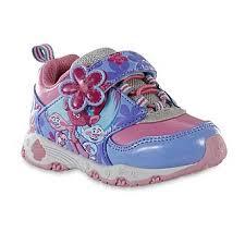 Dreamworks Girls Trolls Pink Purple Light Up Athletic Shoe
