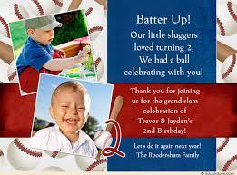 little sluggers birthday thank you card home run boys u0027 party
