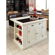 tile countertops small white kitchen island lighting flooring