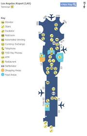 lax gate map los angeles airport lax terminal 3 map map of terminal 6 at