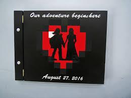wedding gift book legend of link and health heart custom wood
