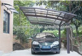 Metal Car Awning All Aluminium Solid Polycarbonate Awning Metal Two Cars Canopy