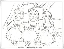 quality free cartoon barbie thumbelina coloring books
