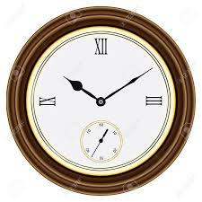 Garden Wall Clocks by Round Wall Clock In A Wooden Case Roman Numerals Illustration