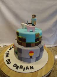 minecraft birthday cake derian wanted minecraft cake