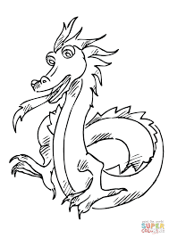 two legged dragon coloring page free printable coloring pages