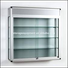 Wall Mounted Display Cabinets With Glass Doors Narrow Glass Cabinet Display Unit Black Display Cabinet Corner