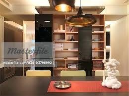 dining room shelves shelving unit in modern dining room stock
