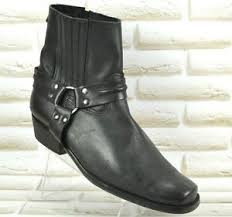 cowboy boots uk leather joe black leather mens biker cowboy boots made in spain