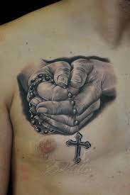 praying hands with rosary and cross tattoo pictures to pin on