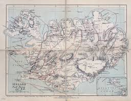 Old Map Of Europe by Large Scale Old Map Of Iceland With Relief Roads And Cities