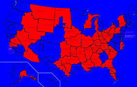 Red And Blue State Map map thread xiv page 380 alternate history discussion