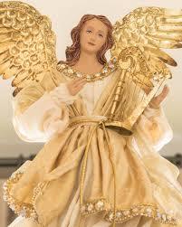 gold angel tree topper balsam hill