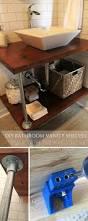 Bathroom Vanity Shelves Diy Open Bathroom Vanity Shelves