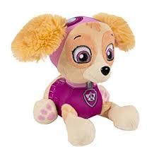 amazon nickelodeon paw patrol plush pup pals skye toys