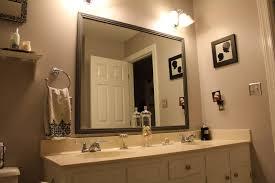 Powder Room Mirrors And Lights Bathroom Cabinets Wood Framed Mirrors Bathroom Vanity Mirror
