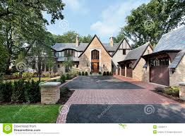 luxury home with four car garage stock image image 13458471
