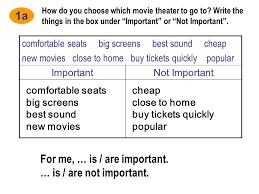 unit4 what u0027s the best movie theater section a 1a 1c ppt download