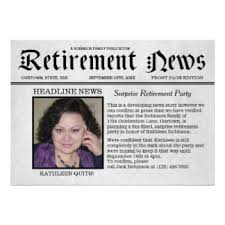 retirement announcement newspaper invitations announcements zazzle
