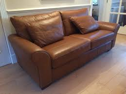 Next Leather Sofas Hardly Used Next Light Garda Large 3 Seater Leather Sofa In