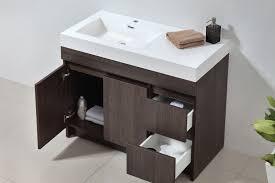 eviva 39 grey oak modern bathroom vanity set with