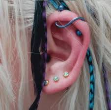 hoop cartilage piercing earlobe piercings cartilage piercings painfulpleasures inc