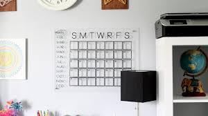 Wall Calendar Organizer Diy Acrylic Calendar For Organization Youtube