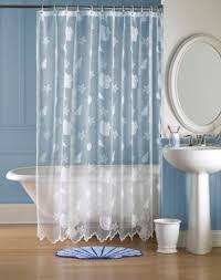 Seashell Bathroom Ideas Bathroom Shell Shower Curtains Curtain Ideas Home Themed