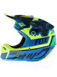 childs motocross helmet fox blue green 2016 v3 division kids mx helmet fox