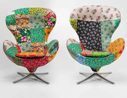 fauteuil kare design fauteuil pivotant en tissu lounge flower by kare design à