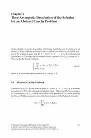 time asymptotic description of the solution for an abstract cauchy