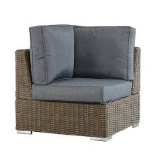 homesullivan camari mocha wicker corner outdoor sectional chair
