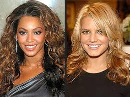 dark hair underneath light on top beyoncé vs jessica whose two toned hair looks better hair
