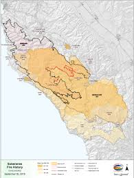Map Of California Fires Big Sur Fire History Map 1997 2016 Big Sur California