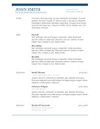 doc resume template modern free word doc resume templates free word document
