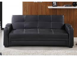 canap simili cuir convertible canapé convertible clic clac simili mirella noir ou blanc