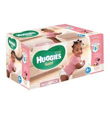 huggies gold huggies gold disposable nappies mega pack girl size 4 1 x 108 s