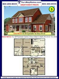 4 Bedroom Modular Home Prices by Edge Water Ts 12r 4 3 5 Two Story Plan 2412 Sf Rochester Home