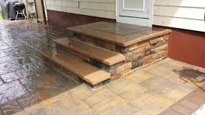 Patio Interlocking Pavers by Cultured Stone Steps With Sand Stone Treads Cambridge Interlocking