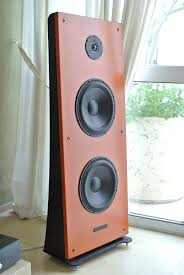 Minimalist Computer Speakers by Floor Stand Open Baffle Speakers Only 42cm Wide With Morel