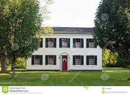 federal style house federal style country home stock photography image 18998622