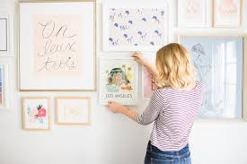 How To Hang Fabric On Walls Without Nails by Picture Perfect Hang A Wall Collage Lauren Conrad