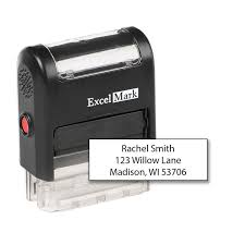 amazon com custom self inking rubber stamp 3 lines 42a1539