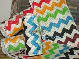 colored burlap ribbon chevron burlap ribbon 3yds 5in chevron print