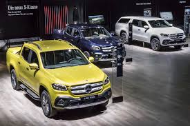 mercedes benz reveals plush x class pick up passenger ride autocar