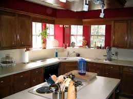 interior sweet pictures of red paint for kitchen decorating