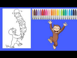 curious george coloring book speed art speed coloring
