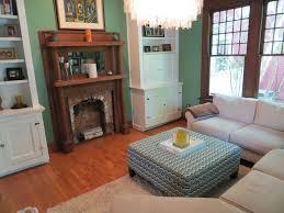 Built In Bookshelves For Living Room Contemporary Living Room With Chandelier U0026 Built In Bookshelf In