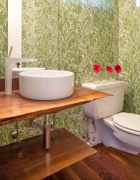 Bathroom Wallpaper Designs Powder Room Wallpaper Inspired By Pantone 2017 Color Of The Year