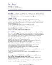 manager resume objective exles fresh project manager resume objective exles project manager